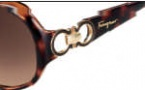 Salvatore Ferragamo SF601S Sunglasses Sunglasses - 214 Tortoise