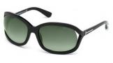Tom Ford FT0278 Vivienne Sunglasses Sunglasses - 01B Shiny Black / Gradient Smoke