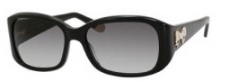 Juicy Couture Juicy 533/S Sunglasses Sunglasses - 0807 Black (Y7 gray gradient lens)