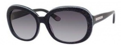 Juicy Couture Juicy 537/S Sunglasses Sunglasses - 01N3 Black Glitter (Y7 gray gradient lens)