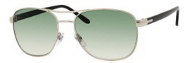 Gucci 2220 Sunglasses Sunglasses - 0EEI Light Gold (ZW dark green gradient lens)