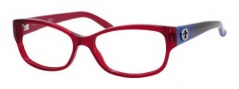 Gucci GG 3569 Eyeglasses Eyeglasses - 0L53 Red Transparent