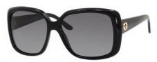 Gucci 3574 Sunglasses Sunglasses - 0W6Z Shiny Black (WJ grayshpolarized lens)