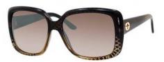 Gucci 3574 Sunglasses Sunglasses - 0W8H Black Gold Diamond (NQ brown mirror gradient lens)