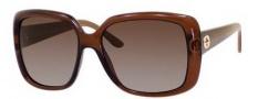 Gucci 3574 Sunglasses Sunglasses - 0W7L Dark Brown Transparent (LA gray/green gradient pol lens)