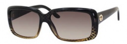 Gucci 3575/S Sunglasses Sunglasses - 0W8H Black Gold Diamond (ED brown gradient lens)