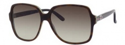 Gucci 3582/S Sunglasses Sunglasses - 0LA2 Havana Green (DB brown gray gradient lens)