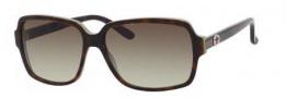 Gucci 3583/S Sunglasses Sunglasses - 0LA2 Havana Green (DB brown gray gradient lens)