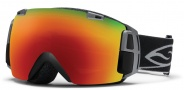 Smith Optics I/O Recon Snow Goggles Goggles - Black / Red Sol X Mirror / Extra Red Sensor Mirror