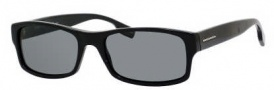Hugo Boss 0407/S Sunglasses Sunglasses - 0807 Black (Y2 Gray Polarized Lens)