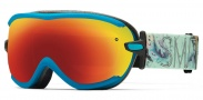 Smith Optics Virtue Snow Goggles  Goggles - Aqua Blue Oil and Water / Red Sol-X Mirror