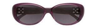 BCBGMaxazria Tickled Sunglasses Sunglasses - PUR Purple Transparent