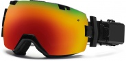 Smith Optics I/OX Elite Turbo Fan Snow Goggles Goggles - Black / Red Sol X Mirror / Extra Blue Sensor Mirror