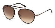 Tom Ford FT0247 Burke Sunglasses Sunglasses - 10F Shiny Light Nickeltin / Gradient Brown