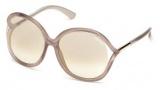 Tom Ford FT0252 Rhi Sunglasses  Sunglasses - 33G Gold / Brown Mirror