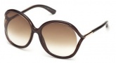 Tom Ford FT0252 Rhi Sunglasses  Sunglasses - 50F Dark Brown / Gradient Brown
