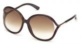 Tom Ford FT0252 Rhi Sunglasses  Sunglasses - 50F Dark Brown / Gradient Brown