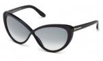 Tom Ford FT0253 Madison Sunglasses Sunglasses - 01B Shiny Black / Gradient Smoke