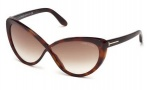 Tom Ford FT0253 Madison Sunglasses Sunglasses - 52F Dark Havana / Gradient Brown