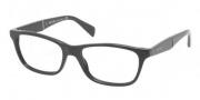 Prada PR 14PV Eyeglasses Eyeglasses - 1AB101 Gloss Black / Demo Lens