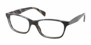 Prada PR 14PV Eyeglasses Eyeglasses - EAR101 Striped Blue Horn / Demo Lens
