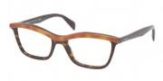 Prada PR 17PV Eyeglasses Eyeglasses - MA4101 Top Light Havana / Havana Demo Lens
