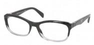 Prada PR 21OV Eyeglasses Eyeglasses - ZYY101 Black Gradient Transparent / Demo Lens