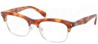 Prada PR 22OV Eyeglasses  Eyeglasses - 4BW101 Light Havana / Demo Lens