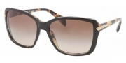 Prada PR 14PS Sunglasses Sunglasses - NAI9S1 Top Black / Medium Havana / Brown Gradient