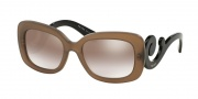 Prada PR 27OS Sunglasses Sunglasses - UBU4O0 Dark Brown Mat Trasp / Gradient Brown Mirror Silver