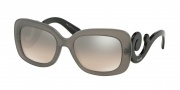 Prada PR 27OS Sunglasses Sunglasses - UBV4P0 Dark Grey Matte Transparent / lt Brown Grad lt Grey Mirr Sil