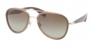 Prada PR 51PS Sunglasses Sunglasses - ZVN1X1 Pale Gold / Brown Gradient