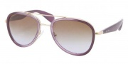 Prada PR 51PS Sunglasses Sunglasses - ZVN6P1 Violet Gradient / Brown Gradient
