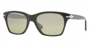 Persol PO 3027S Sunglasses Sunglasses - 95/83 Black Crystal / Polar Green GR Photo