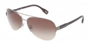 D&G DD6092 Sunglasses Sunglasses - 090/13 Gunmetal / Brown Gradient