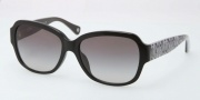 Coach HC8036F Sunglasses Pemela Sunglasses - 500211 Black / Grey Gradient