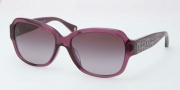 Coach HC8036F Sunglasses Pemela Sunglasses - 50428H Purple / Purple Gradient