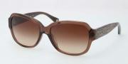 Coach HC8036F Sunglasses Pemela Sunglasses - 507313 Brown / Brown Gradient