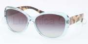 Coach HC8040B Sunglasses Keri Sunglasses - 514611 Transparent Teal / Light Grey Gradient