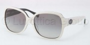 Coach HC8043F Sunglasses Bridget Sunglasses - 509011 White Black / Grey Gradient