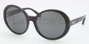 Coach HC8046F Sunglasses Sunglasses - 500287 Black / Grey Solid