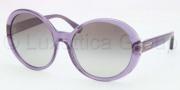 Coach HC8046F Sunglasses Sunglasses - 509711 Transparent Purple / Grey Gradient