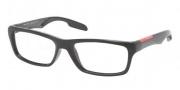 Prada Sport PS 04DV Eyeglasses Eyeglasses - 1AB101 Black / Demo Lens