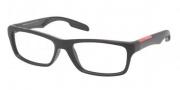 Prada Sport PS 04DV Eyeglasses Eyeglasses - 1B0101 Black Sand / Demo Lens