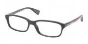 Prada Sport PS 02DV Eyeglasses Eyeglasses - 1AB101 Black