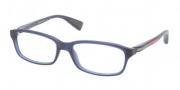 Prada Sport PS 02DV Eyeglasses Eyeglasses - IAW101 Matte Blue