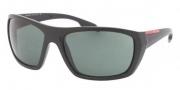 Prada Sport PS 01OS Sunglasses Sunglasses - 1B0301 Black Sand Green
