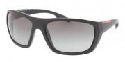Prada Sport PS 01OS Sunglasses Sunglasses - FAD3M1 Matte Black / Gray Gradient