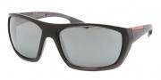 Prada Sport PS 01OS Sunglasses Sunglasses - jAN7W1 Smoke Sand Gradient / Gray Mirror Silver