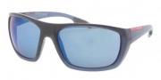 Prada Sport PS 01OS Sunglasses Sunglasses - MAF9P1 Avio Sand Gradient / Mirror Blue